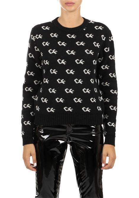 BLACK JERSEY IN MERINOS CHIARA FERRAGNI | Sweaters | CFJM034NERO