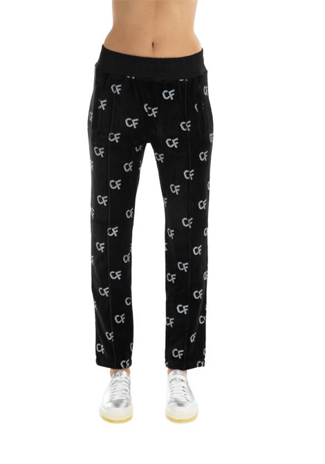 BLACK COTTON TROUSERS CHIARA FERRAGNI | Pants | CFP034NERO