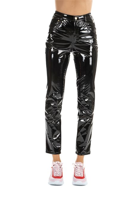 BLACK VINYL FLIRTING TROUSERS CHIARA FERRAGNI | Pants | CFP037NERO