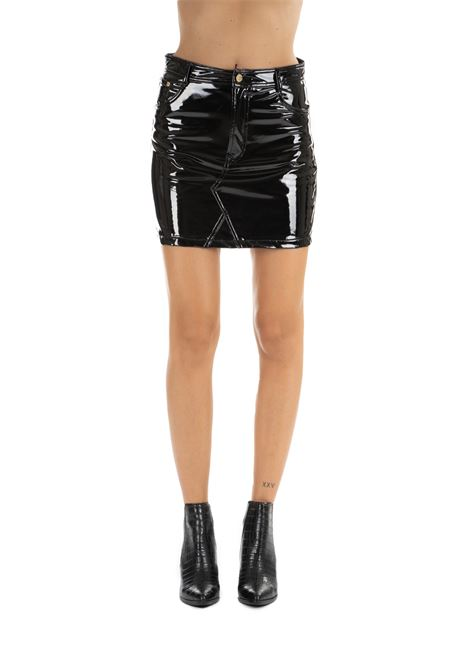 BLACK FLIRTING VINYL MINI-SKIRT CHIARA FERRAGNI | Skirts | CFST017NERO