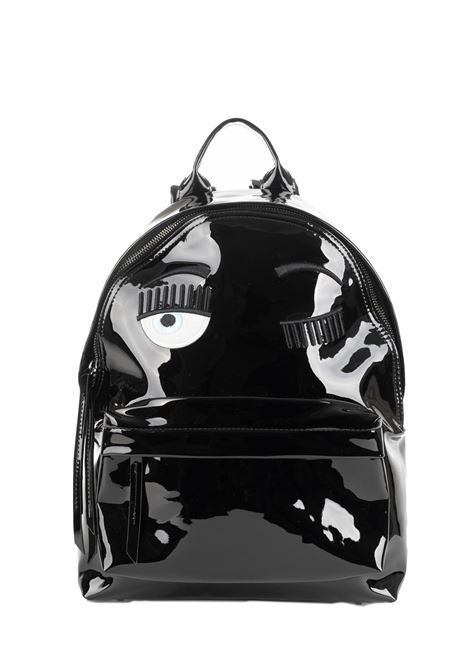 BACKPACK FLIRTING IN PAINT WITH EMBROIDERY CHIARA FERRAGNI | Backpacks | CFZ056NERO