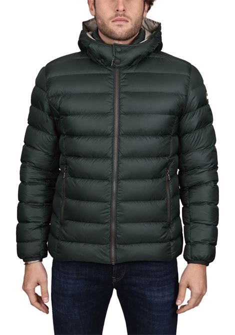 GREEN DOWN JACKET WITH LIGHT FEATHER PADDING COLMAR | Jackets | 1250RCONCRETE5ST382