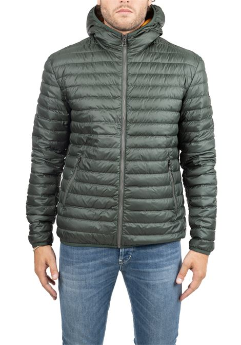 GREEN DOWN JACKET WITH LIGHT FEATHER PADDING COLMAR | Jackets | 1277R382