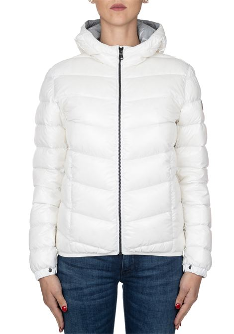 SUPER GLOSSY WHITE BOMBER WITH HOOD COLMAR | Jackets | 2247ORIGIN5TW01
