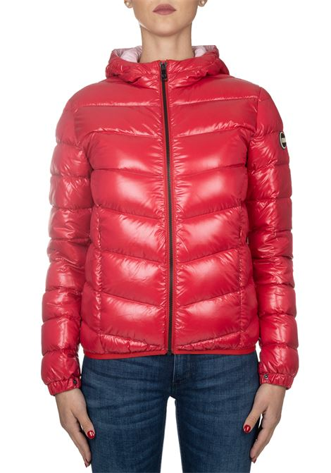 SUPER GLOSSY RED BOMBER WITH HOOD COLMAR | Jackets | 2247ORIGIN5TW193