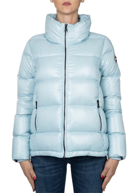 SUPER POLISHED LIGHT BLUE DOWN JACKET COLMAR | Jackets | 2248ORIGIN5TW423