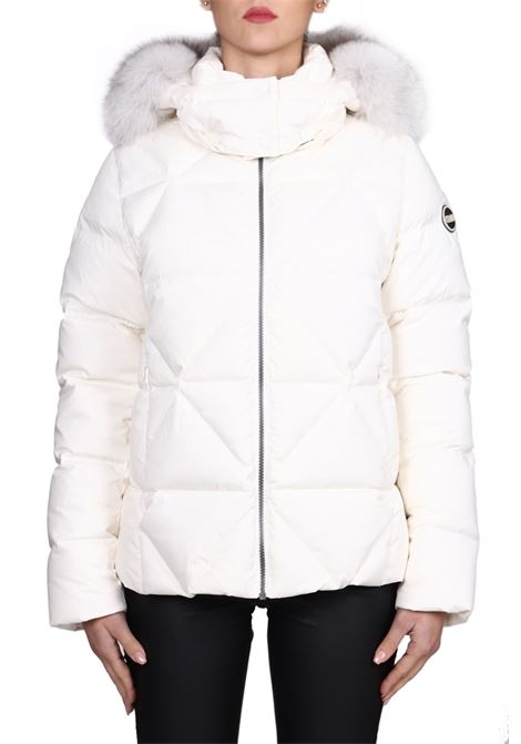WHITE TOTAL DOWN JACKET WITH LOGO COLMAR | Jackets | 2269FEXPERT2SE406