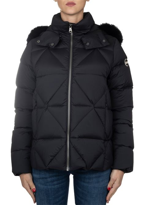 BLACK TOTAL DOWN JACKET WITH LOGO COLMAR | Jackets | 2269FEXPERT2SE99