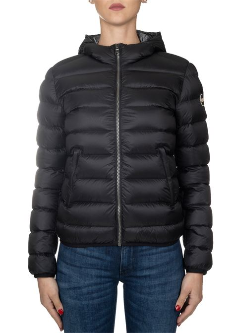 BLACK DOWN JACKET WITH HOOD COLMAR | Jackets | 2286NPLACE7QD99