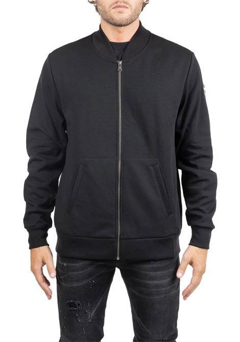 BLACK SWEATSHIRT WITH LOGO APPLICATION COLMAR | Sweatshirts | 8271LOCKER7SG99