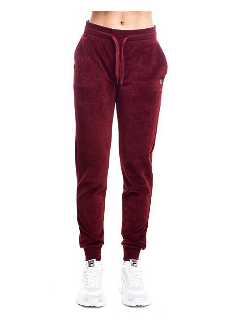 BORDEAUX SUEDE PANTS WITH FRONT LOGO APPLICATION COLMAR | Pants | 9058SHUI6ST416