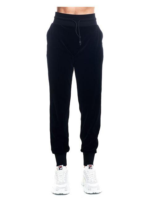 BLACK SUEDE PANTS WITH FRONT LOGO APPLICATION COLMAR | Pants | 9058SHUI6ST99