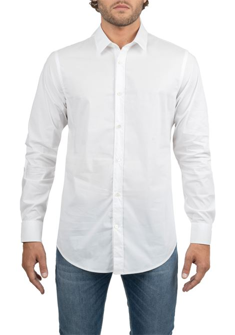 WHITE BASIC SHIRT IN COTTON DANIELE ALESSANDRINI | Shirts | C1507B75139062