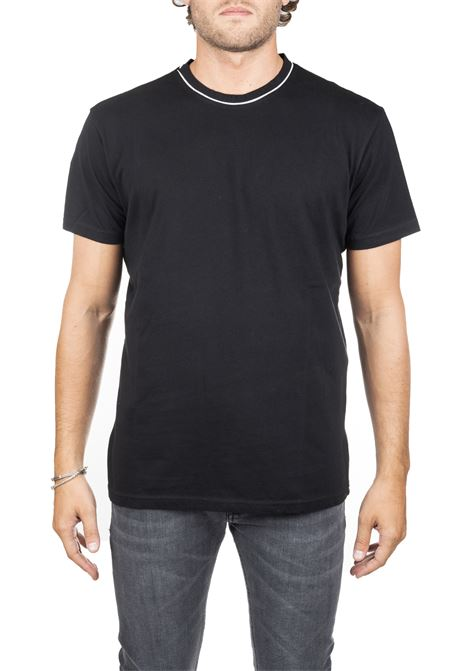 BLACK C-COTTON T-SHIRT DANIELE ALESSANDRINI | T-shirt | M9111E77639061