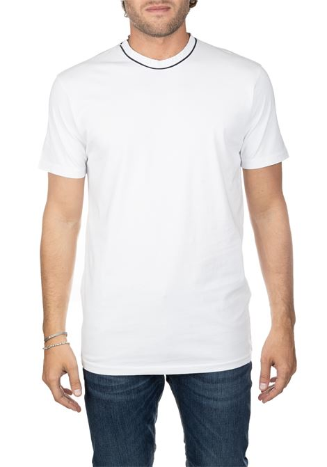 WHITE C-COTTON T-SHIRT DANIELE ALESSANDRINI | T-shirt | M9111E77639062