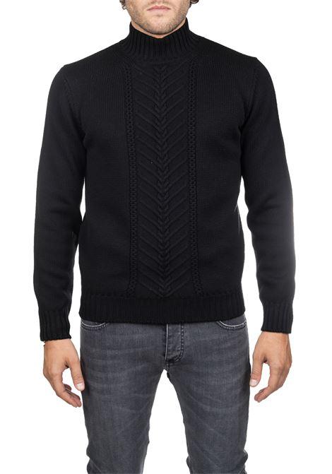 EXTRA FINE BLACK MERINO WOOL SWEATER DELLA CIANA | Sweaters | 10/441999
