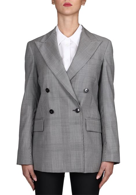 GRAY DOUBLE-BREASTED WOOL JACKET DONDUP   Jackets   DJ277PX0063DXXXPDD999