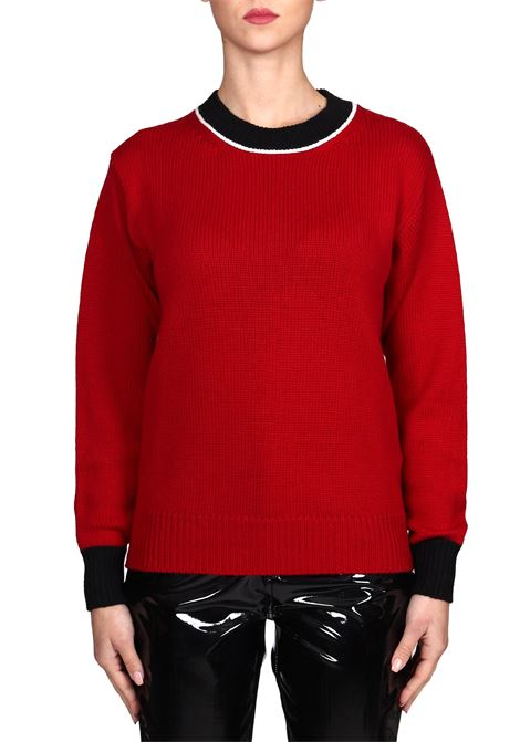 RED SWEATER IN EXTRA FINE MERINO WOOL DONDUP | Sweaters | DM342M00688D002PDD442