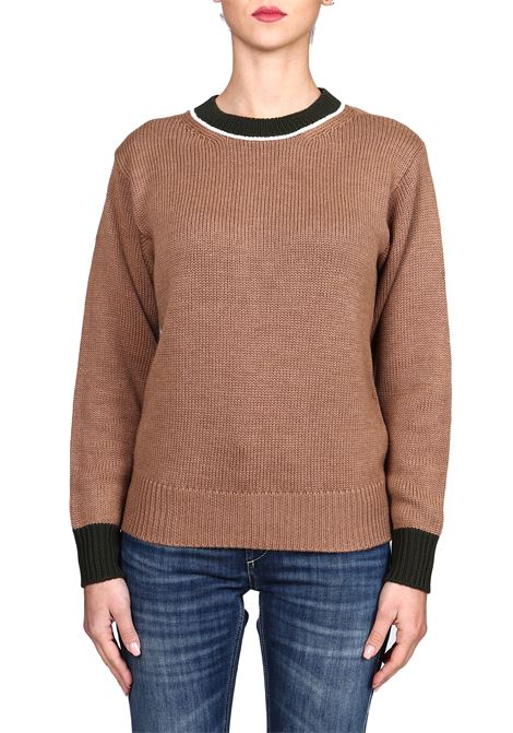 BICOLOR WOOL SWEATER DONDUP | Sweaters | DM342M00688D002PDD664