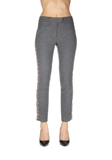 GRAY PERFECT WOOL PANTS DONDUP | Pants | DP066AWS0100XXXMDW19920