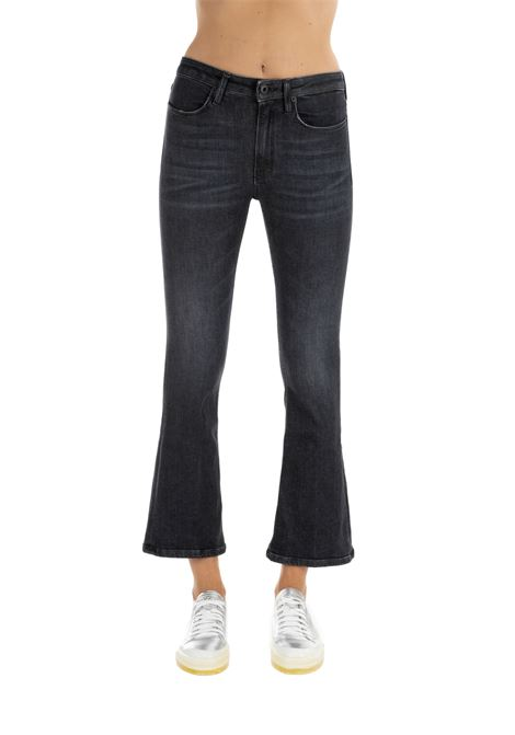 BLACK AMANDA PANTS IN COTTON DONDUP | Jeans | DP449DS0250W28PDDW19999