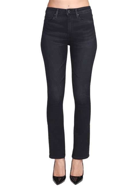 BLACK CHARLOTTE MIXED COTTON TROUSERS DONDUP | Jeans | DP457DS0249DW46PDD999