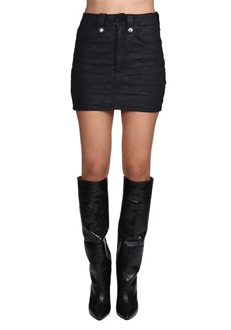 BLACK MATELASSE MINI SKIRT DONDUP | Skirts | G442DS0263TZ35PDD999