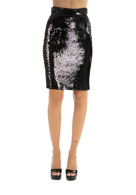 BLACK SEQUIN SKIRT DONDUP | Skirts | G447JS0230XXXMDW19999