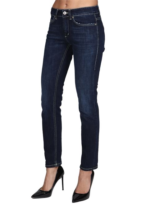 JEANS MONROE IN COTONE DONDUP | Jeans | P692DS0257DW91PDD800