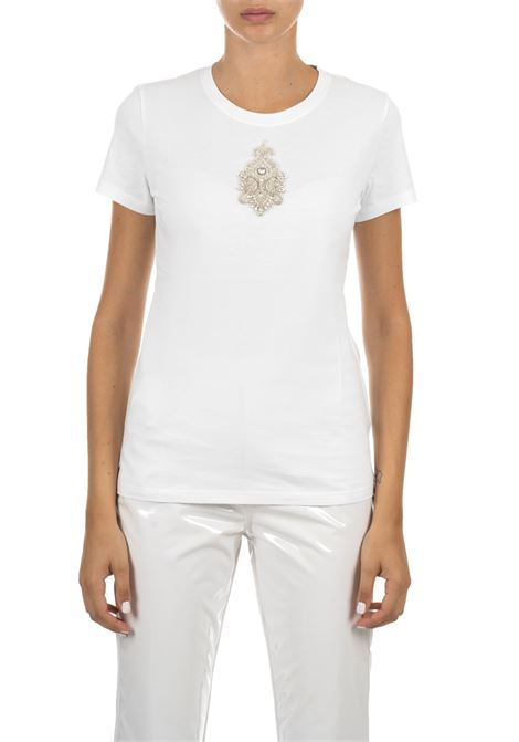 WHITE COTTON T-SHIRT DONDUP | T-shirt | S007JF0234D113PDDW19000