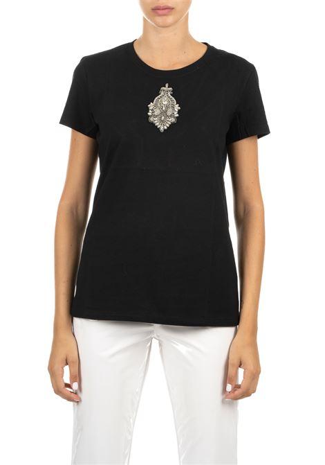 T-SHIRT NERA IN COTONE DONDUP | T-shirt | S007JF0234D113PDDW19999