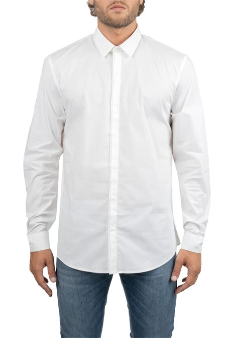 WHITE COTTON POPLIN SHIRT DONDUP | Shirts | UC221PS0011XXXDUW19000