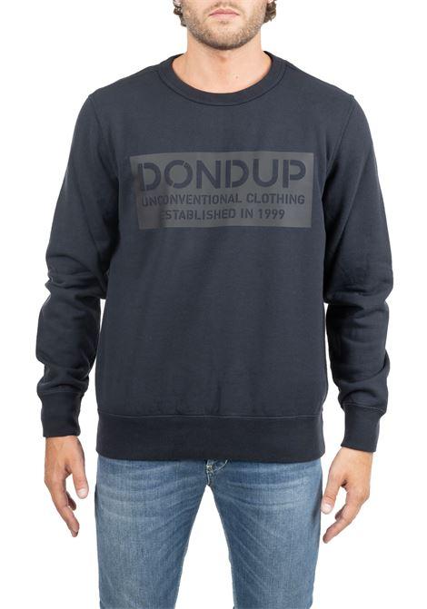 BLUE VEST WITH LOGO PRINT DONDUP | Sweatshirts | UF515KF0153I89DUW19897