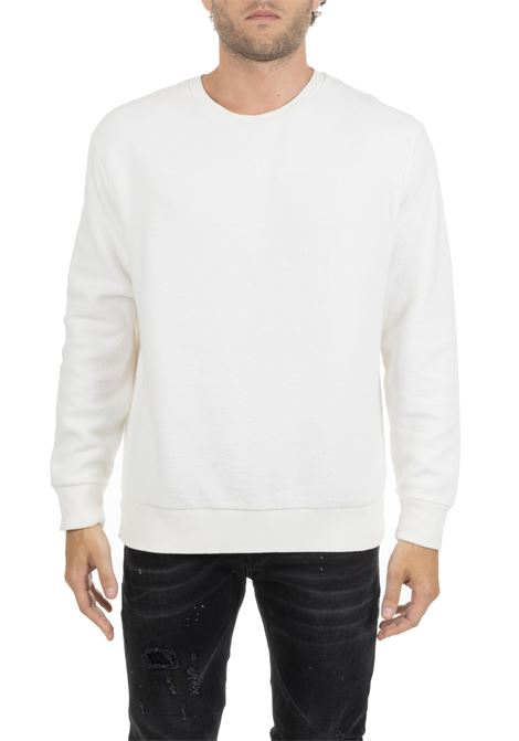 WHITE SWEATSHIRT WITH RETRO PRINTED LOGO DONDUP | Sweatshirts | UF593KF0159Z07DUW19002