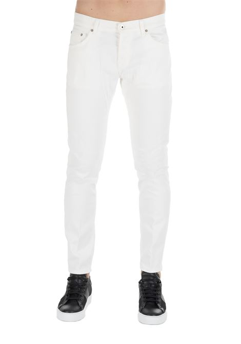 PANTALONE BIANCO MIUS SLIM FIT DONDUP | Jeans | UP168BS0009W53DUW19001