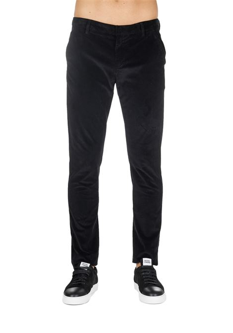 PANTALONI NERO GAUBERT IN VELLUTO DONDUP | Pantaloni | UP235VS0018XXXDUW19999
