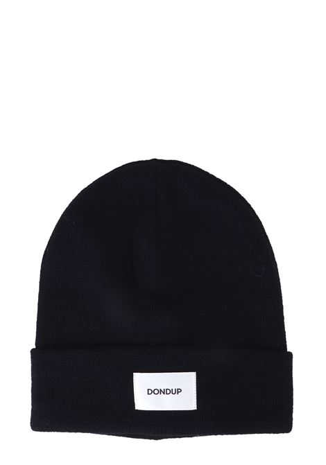 BLUE MIXED WOOL HAT WITH FRONT LOGO APPLICATION DONDUP | Hats | UQ063Y00304XXXDUW19897