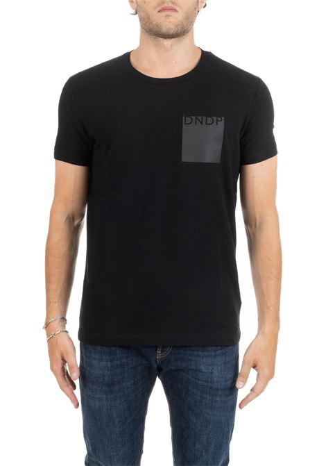 BLACK T-SHIRT WITH FRONT LOGO DONDUP | T-shirt | US221JS0125M07DUW19999