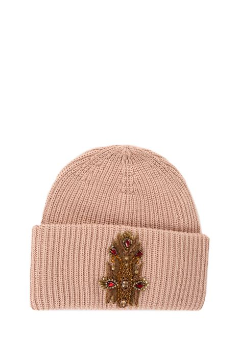 PINK HAT WITH FRONTAL APPLICATION DONDUP | Hats | WQ082Y00474Z91PDDW19573