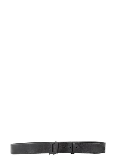 CINTURA NERA IN PELLE CON LOGO DONDUP | Cintura | XC113Y00421XXXDUW19999
