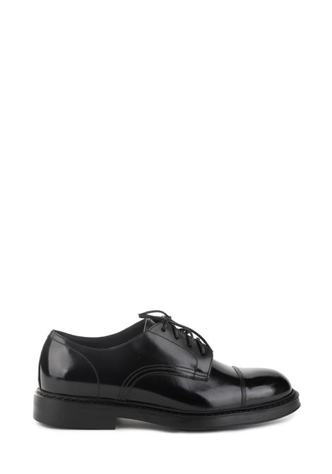 BLACK LEATHER LACE-UP DUCA DI WELLS | Shoes | DU2524BRUGUF119NN00