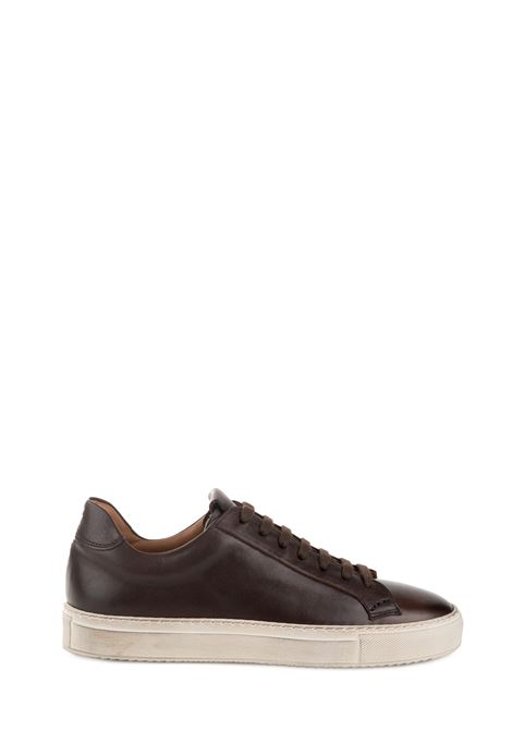 BROWN LEATHER SNEAKER BALM EBONY DUCA DI WELLS | Sneakers | NU2230KOBEUF096SM02EBANO