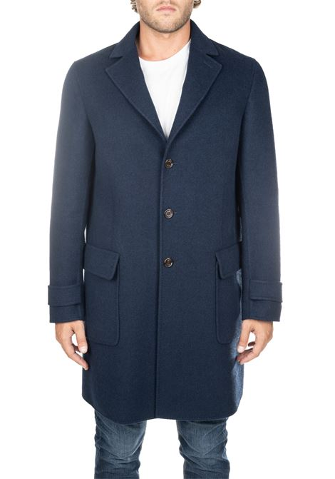 BLUE COAT IN WOOL AND CASHMERE ELEVENTY | Coats | 979CS0179CAS2803211