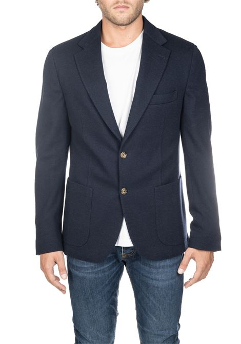 BLACK WOOL AND COTTON JACKET ELEVENTY | Jackets | 979JA0119BTCRNJAC2803011