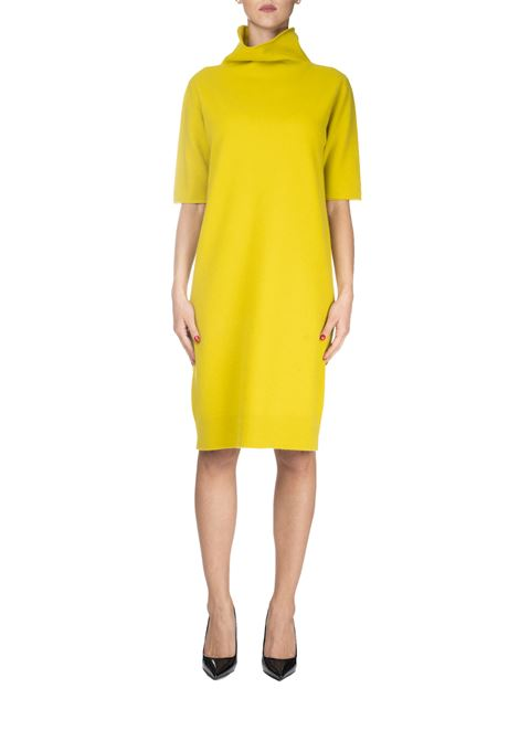 YELLOW DRESS IN CASHMERE HIGH NECK FABIANA FILIPPI | Dress | ABD129B947N9006119