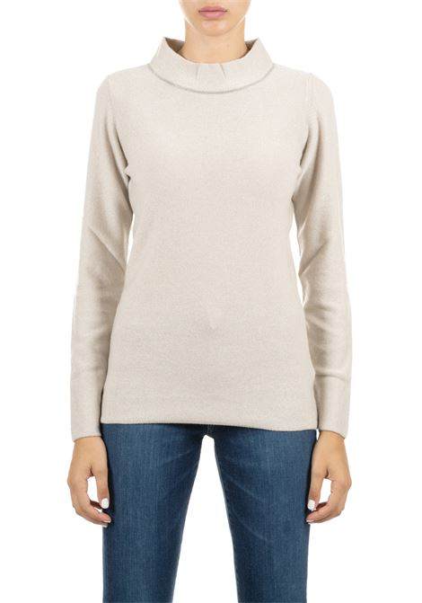 BEIGE SWEATER WITH MONILE FABIANA FILIPPI | Sweaters | MAD119B966B010VR2