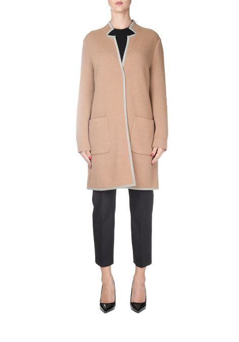 BEIGE CASHMERE AND WOOL COAT FABIANA FILIPPI | Coats | MAD129B984B049VR1