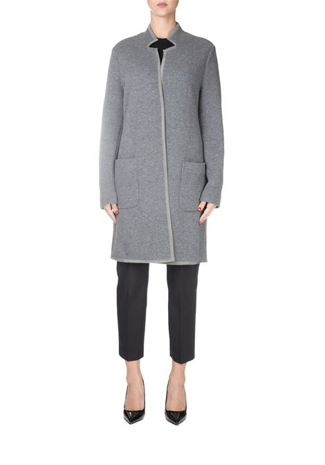 GRAY CASHMERE AND WOOL COAT FABIANA FILIPPI | Coats | MAD129B984B049VR2