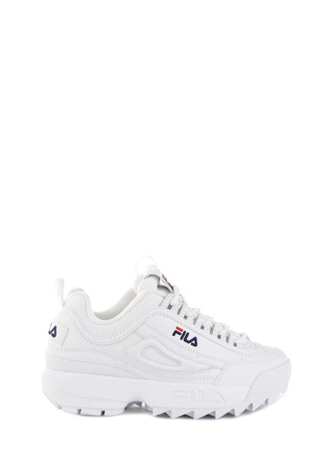WHITE SNEAKER IN SYNTHETIC LEATHER DISRUPTOR LOW WMN FILA | Sneakers | 10102621FG