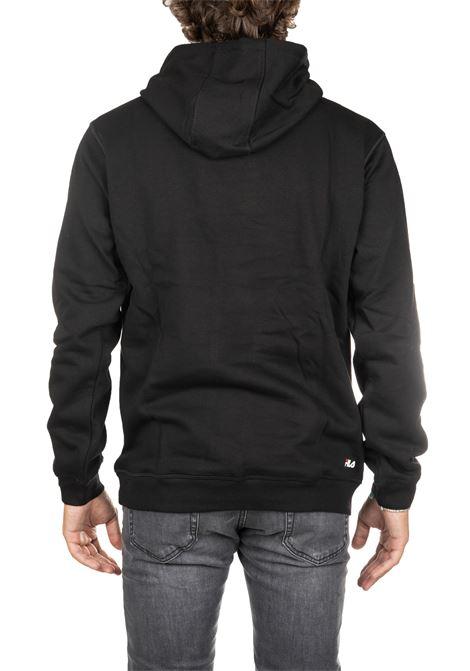 BLACK COTTON SWEATSHIRT WITH FRONT LOGO PRINT FILA | Sweatshirts | 681090002